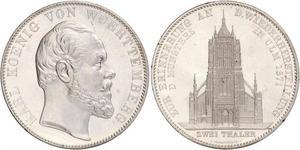 2 Thaler Kingdom of Württemberg (1806-1918) Silver Charles I of Württemberg