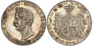 2 Thaler Principality of Reuss-Greiz (1778 - 1918) Silver Heinrich XX, Prince Reuss of Greiz