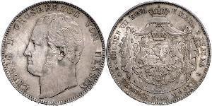 2 Thaler / 3½ Gulden 黑森-达姆施塔特 (1806 - 1918) 銀 路德维希二世 (黑森大公)