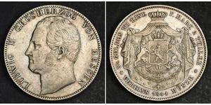 2 Thaler / 3½ Gulden Hesse-Darmstadt (1806 - 1918) Plata Luis II de Hesse-Darmstadt