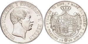 2 Thaler / 3½ Gulden Großherzogtum Hessen (1806 - 1918) Silber Friedrich Wilhelm I. (Hessen-Kassel) (1802 - 1875)