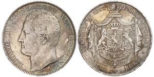 2 Thaler / 3½ Gulden Großherzogtum Hessen (1806 - 1918) Silber Ludwig II. (Hessen-Darmstadt)