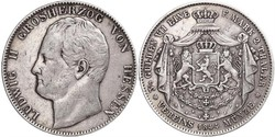 2 Thaler / 3½ Gulden Grand Duchy of Hesse (1806 - 1918) Silver Louis II, Grand Duke of Hesse