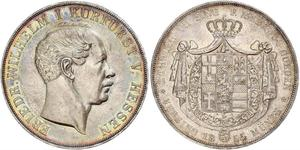 2 Thaler / 3½ Gulden Grand Duchy of Hesse (1806 - 1918) Silver Frederick William, Elector of Hesse (1802 - 1875)