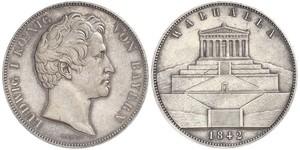 2 Thaler / 3.5 Gulden 巴伐利亞王國 (1806 - 1918) 銀 路德维希一世 (巴伐利亚)