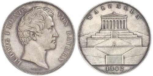2 Thaler / 3.5 Gulden Regno di Baviera (1806 - 1918) Argento Ludovico I di Baviera (re)(1786 – 1868)