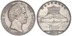 2 Thaler / 3.5 Gulden Kingdom of Bavaria (1806 - 1918) Silver Ludwig I of Bavaria (1786 – 1868)