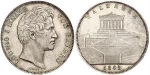 2 Thaler / 3.5 Gulden Kingdom of Bavaria (1806 - 1918) Silver Ludwig I of Bavaria (1786 – 1868)