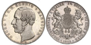 2 Thaler / 3.5 Gulden Kingdom of Hanover (1814 - 1866) Silver George V of Hanover (1819 - 1878)