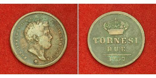 2 Tornesi Italian city-states Copper