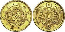 2 Yen Empire of Japan (1868-1947) Gold Meiji the Great (1852 - 1912)