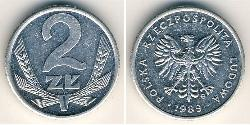 2 Zloty Volksrepublik Polen (1952-1990) Aluminium