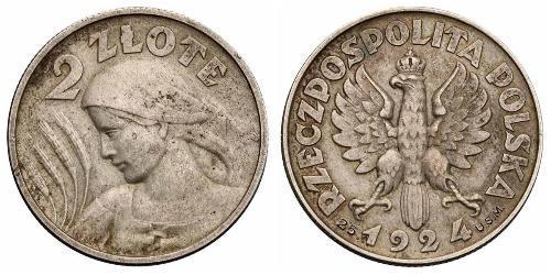 2 Zloty Seconda Repubblica Polacca (1918 - 1939) Argento