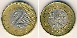 2 Zloty Third Polish Republic (1991 - ) Bimetal