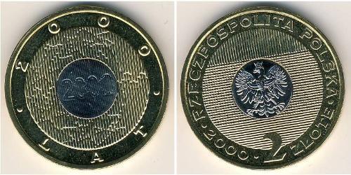2 Zloty Third Polish Republic (1991 - ) Bimetal