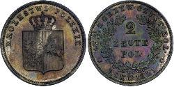 2 Zloty Kingdom of Poland (1815-1915) Silver
