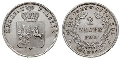 2 Zloty Kingdom of Poland (1815-1915) Silver
