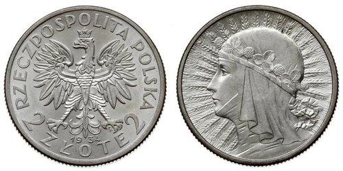 2 Zloty Second Polish Republic (1918 - 1939)