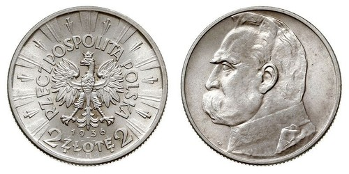 2 Zloty Second Polish Republic (1918 - 1939)