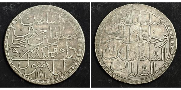 2 Zolota Османська імперія (1299-1923) Срібло Мустафа III (1757 - 1774)