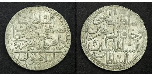 2 Zolota Empire ottoman (1299-1923) Argent Moustapha III (1757 - 1774)