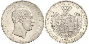 3½ Гульден / 2 Талер Великое герцогство Гессен (1806 - 1918) Срібло Frederick William, Elector of Hesse (1802 - 1875)