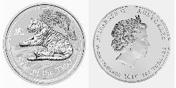 300 Dollar Australia (1939 - ) Silver Elizabeth II (1926-)