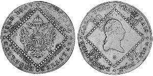30 Крейцер Австрійська імперія (1804-1867) Мідь Francis II, Holy Roman Emperor (1768 - 1835)