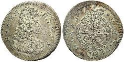 30 Крейцер Бавария (курфюршество) (1623 - 1806) Серебро