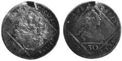 30 Крейцер Баварія (курфюрство) (1623 - 1806) Срібло Maximilian III Joseph, Elector of Bavaria (1727 – 1777)