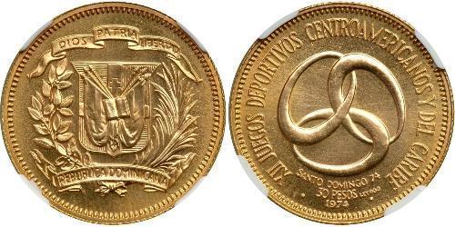 30 Песо Доминиканская Республика Золото