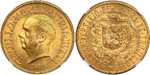 30 Песо Домініканська Республіка Золото