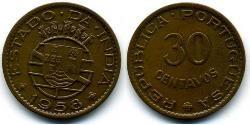 30 Centavo Portugiesisch-Indien (1510-1961) Bronze