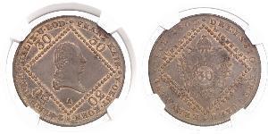 30 Kreuzer 奧地利帝國 (1804 - 1867) 銅 弗朗茨二世 (神圣罗马帝国) (1768 - 1835)