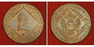 30 Kreuzer Impero austriaco (1804-1867) Rame Francis II, Holy Roman Emperor (1768 - 1835)