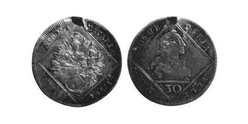 30 Kreuzer Electorate of Bavaria (1623 - 1806) Silver Maximilian III Joseph, Elector of Bavaria (1727 – 1777)