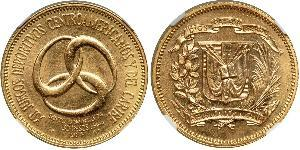 30 Peso Dominican Republic Gold