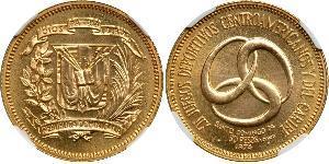 30 Peso Repubblica Dominicana Oro