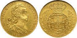 3200 Reis Regno del Portogallo (1139-1910) Oro Giovanni VI del Portogallo (1767-1826)