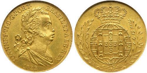 3200 Reis Reino de Portugal (1139-1910) Oro Juan VI de Portugal (1767-1826)