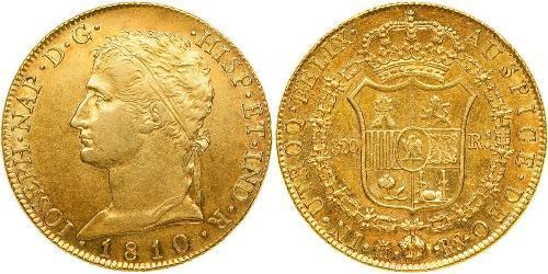 320 Real Kingdom of Spain (1808 - 1813) Gold Joseph Bonaparte