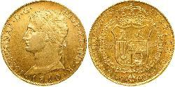 320 Real Kingdom of Spain (1808 - 1813) Oro Giuseppe Bonaparte