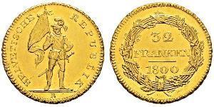 32 Франк Швейцария Золото