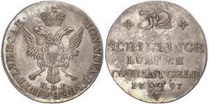 32 Шиллинг Германия Серебро