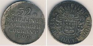 32 Шиллинг Федеральные земли Германии Серебро