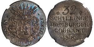 32 Шилінг Федеральні землі Німеччини Срібло
