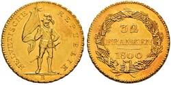 32 Franc Schweiz Gold