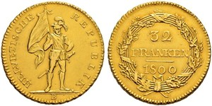 32 Franc Suiza Oro