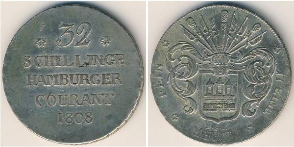 32 Shilling 联邦州 (德国) 銀