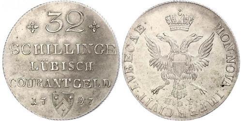 32 Shilling Allemagne Argent